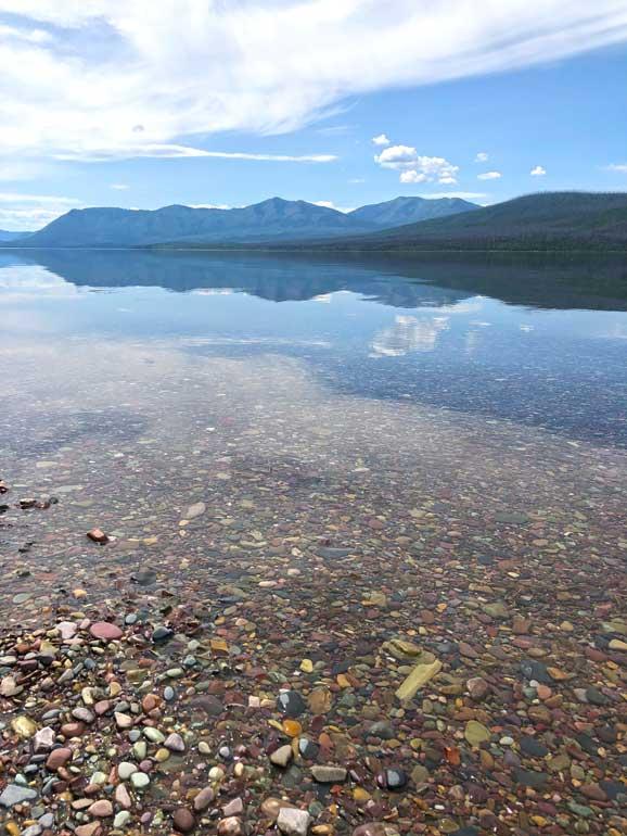 gorgeous reflective lake mcdonald montana