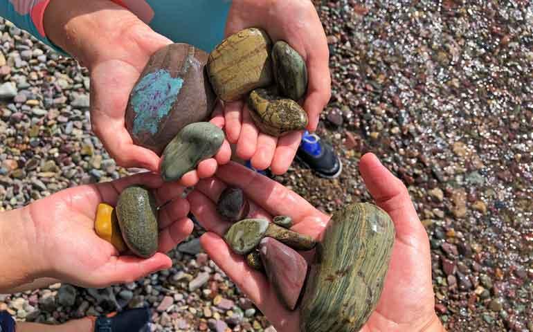 lake mcdonald rocks