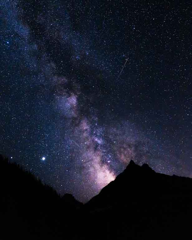 glacier national park at night