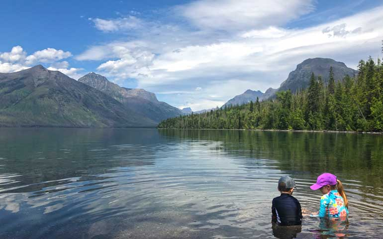 swimming in lake mcdonald