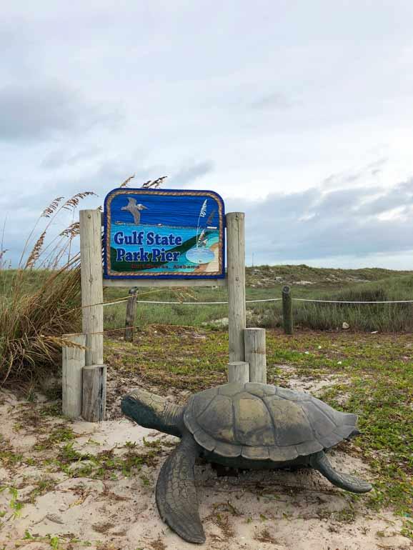 gulf state park pier sign