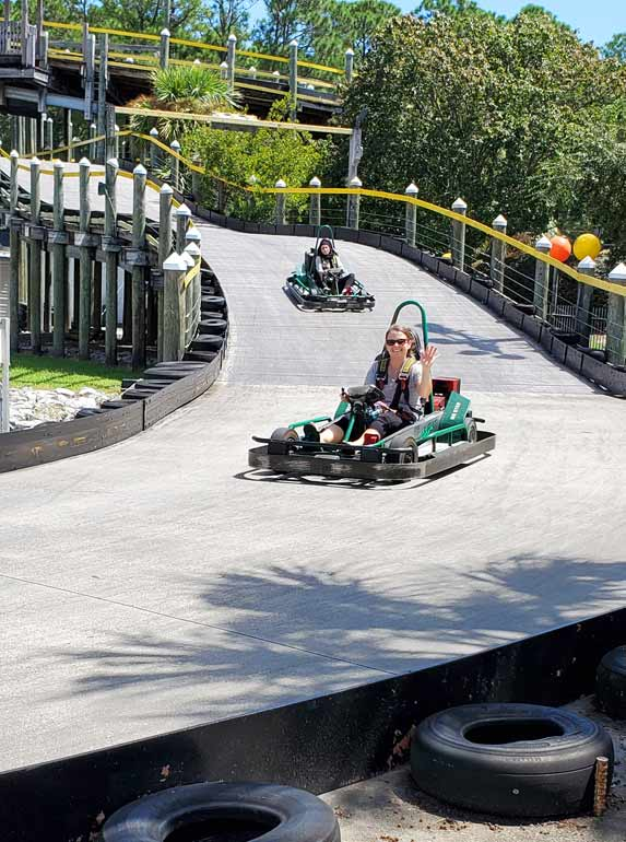 go karts at the track