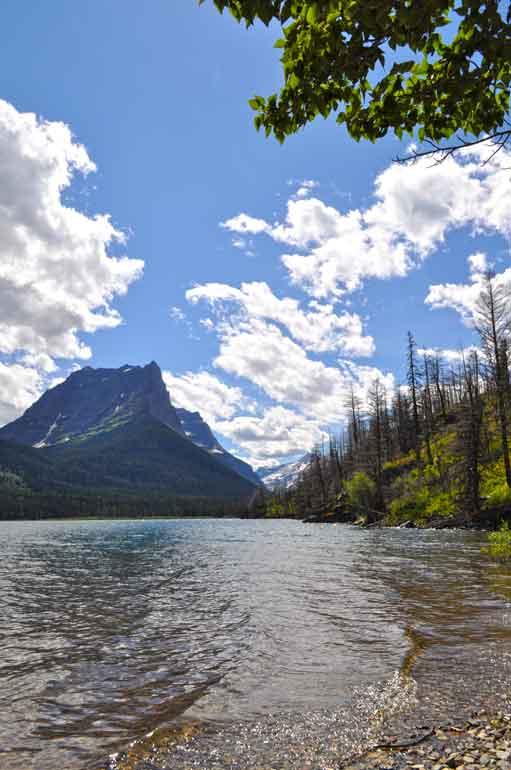saint mary lake beautiful views