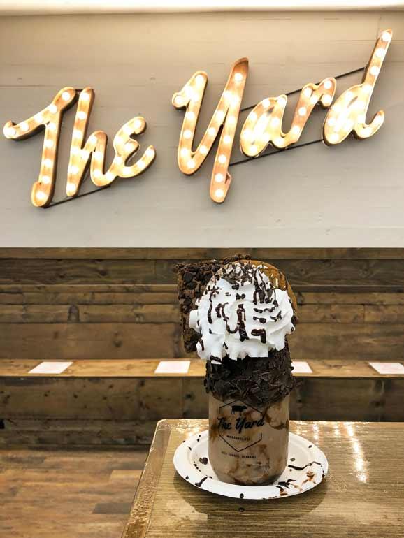 the yard ice cream shop