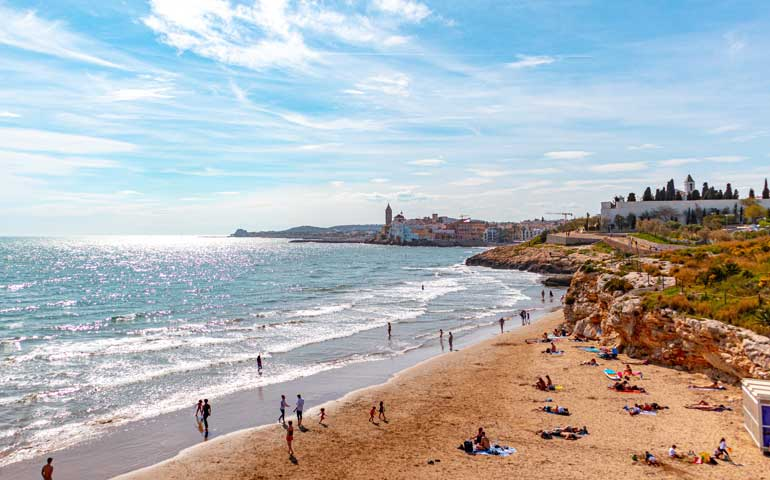 cheapes beach vacations in europe sitges spain