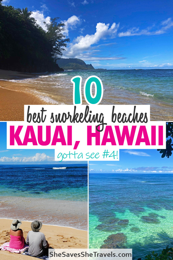 10 best snorkeling beaches Kauai Hawaii