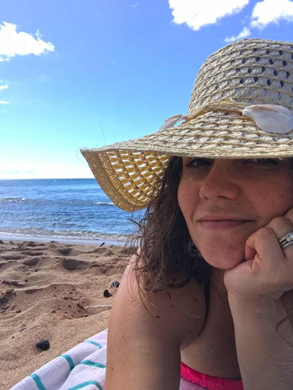 sun hat on Maui