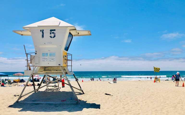 san diego california usa water and lifeguard view