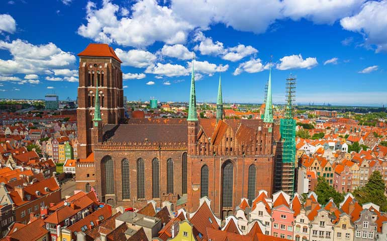 cheap sping break trips for families Gdansk Poland