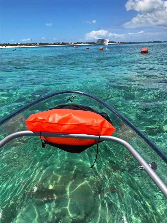 glass bottom kayak caribbean