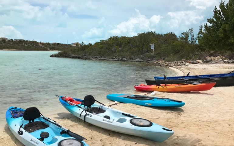 kayaking chalk sound turks and caicos