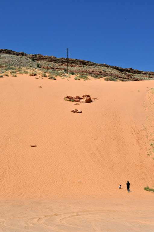 things to do in moab with kids sand slide