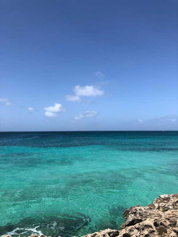stunning aruba beaches looking out to sea