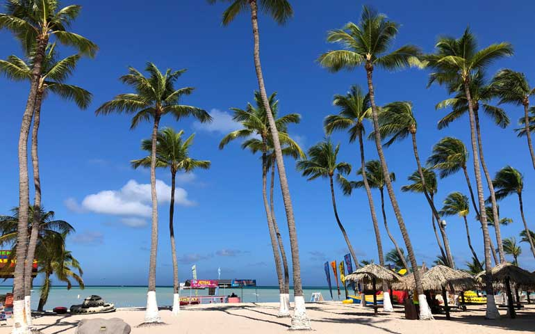 beautiful palm beach aruba