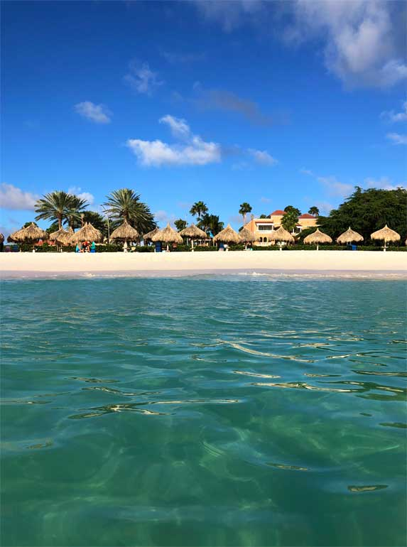 in the Caribbean Sea looking at Aruba
