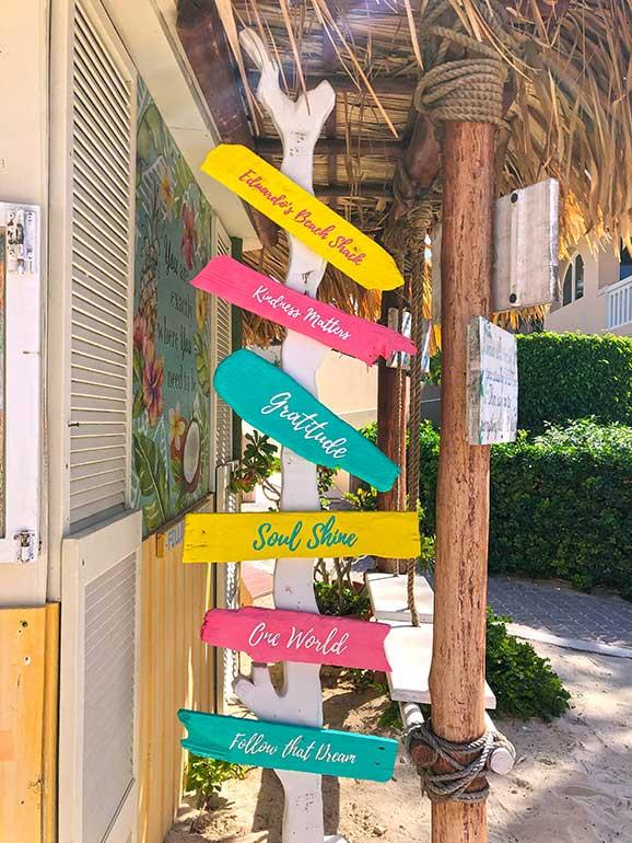 Eduardos beach shack sign