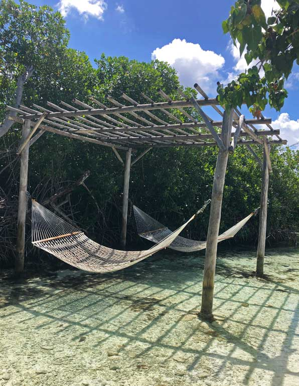 hammocks in the bay