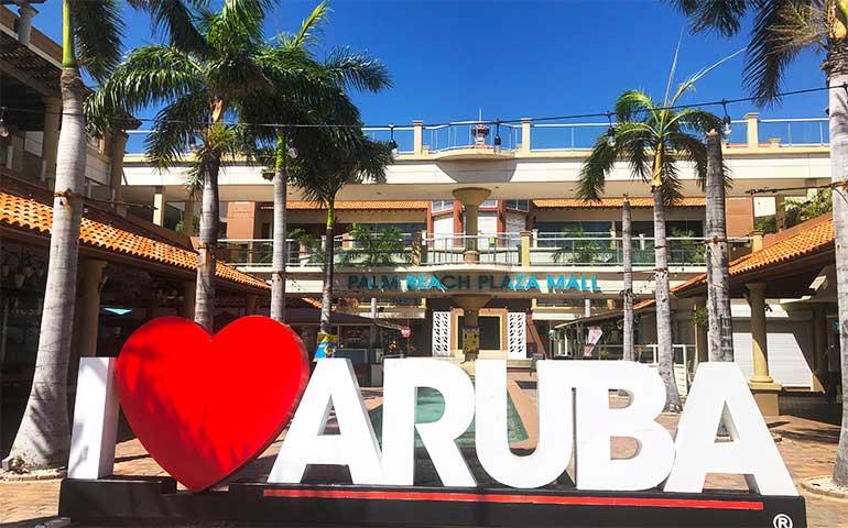 I love aruba sign palm beach