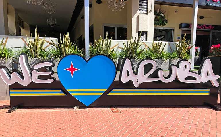 we love aruba sign