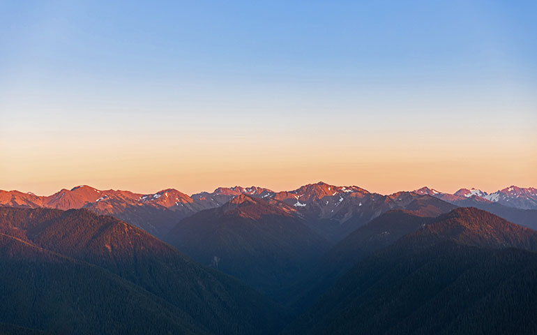 Olympic National Park mountain views