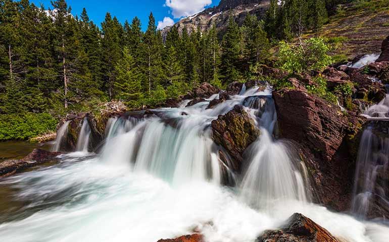 redrock falls glacier