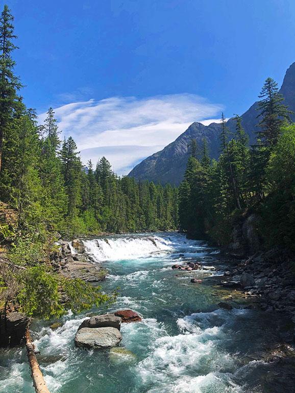 sacred dancing cascade glacier national park
