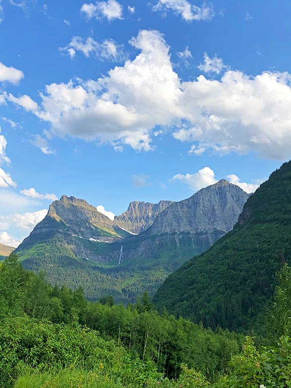 going to the sun road glacier np