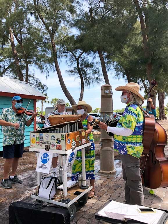 live music beach market