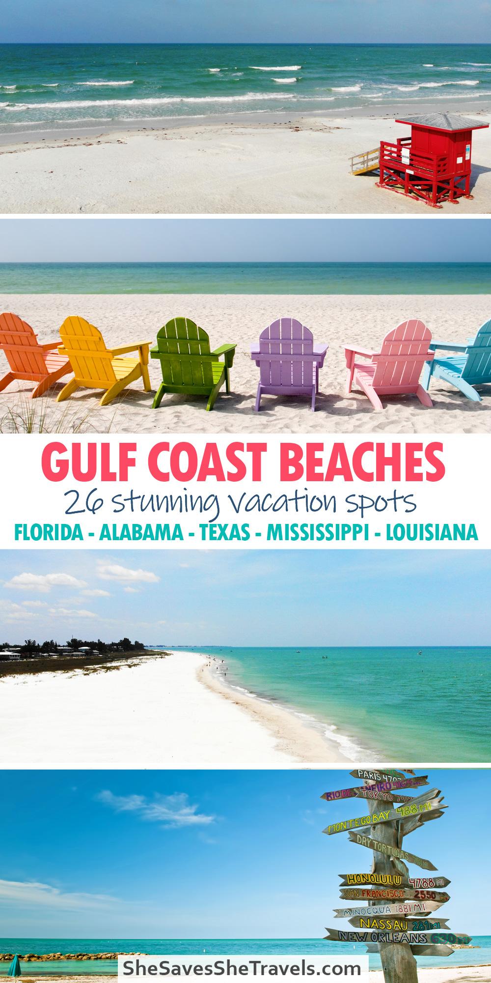 gulf coast beaches 26 stunning vacation spots Pinterest pin