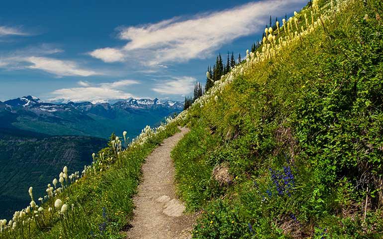 highline trail hike