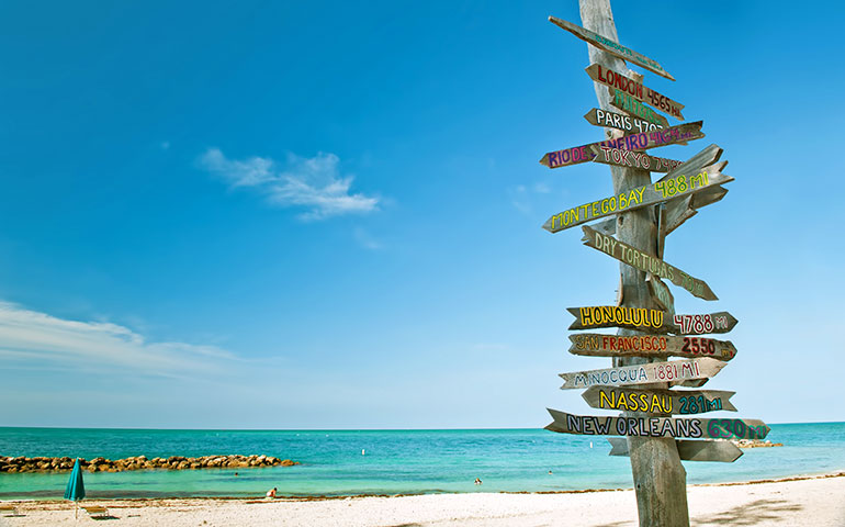 key west florida with sign