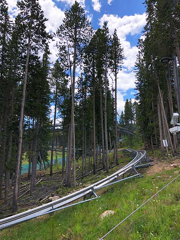 alpine roller coaster in Breckenridge