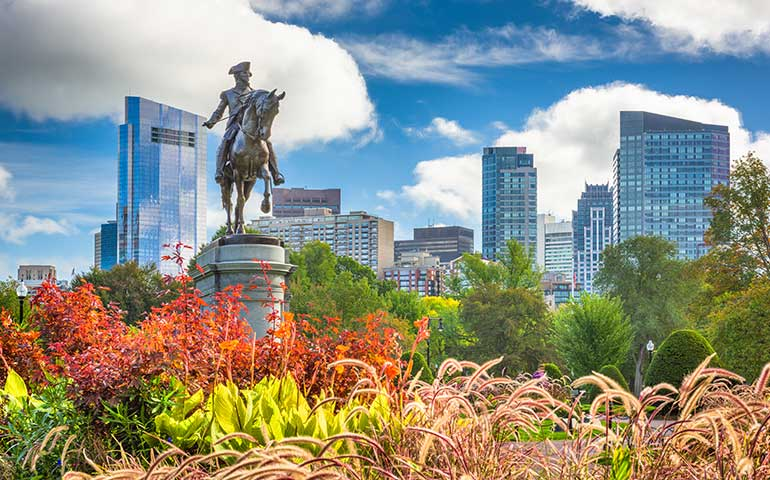 best places to visit in October in the US - Boston