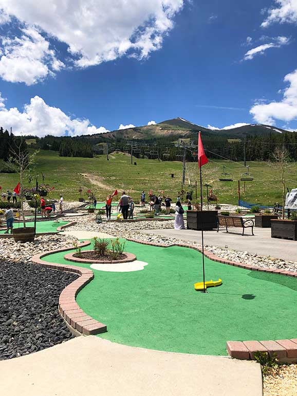 Breck fun park in summertime