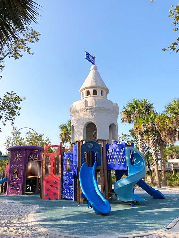 playground with castle tower