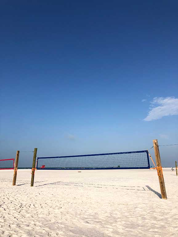 volleyball court on the sand