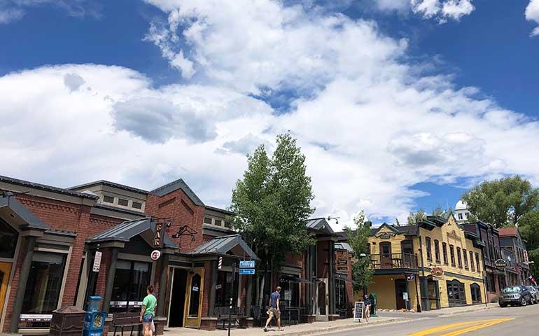 downtown Breckenridge in summer