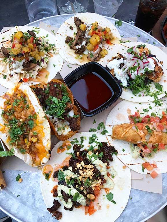 full plate of tacos in vail colorado