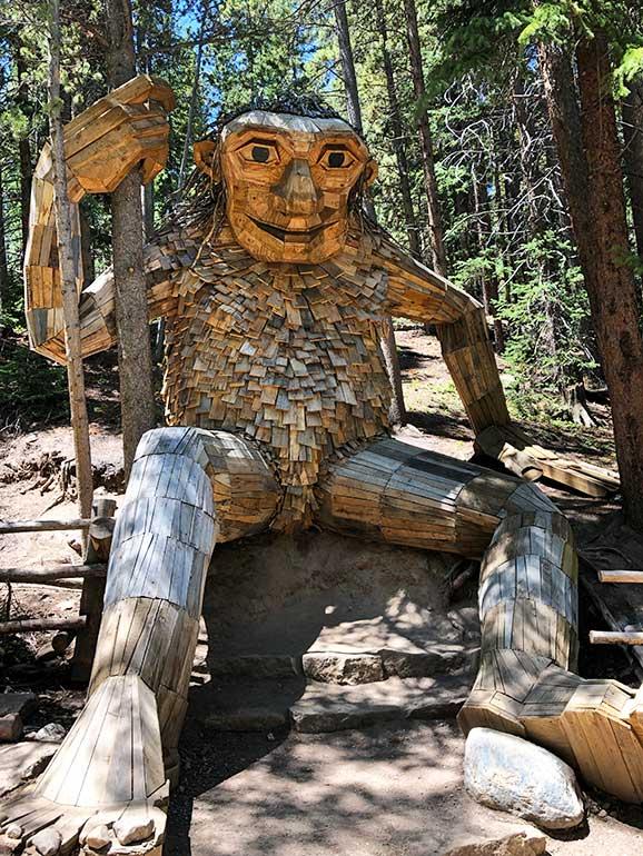 Breck troll near Dillon CO