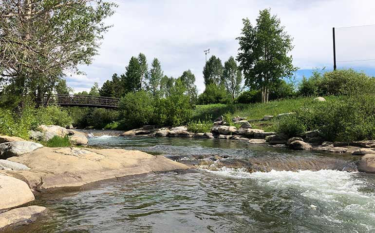 stream in summer in breckenridge