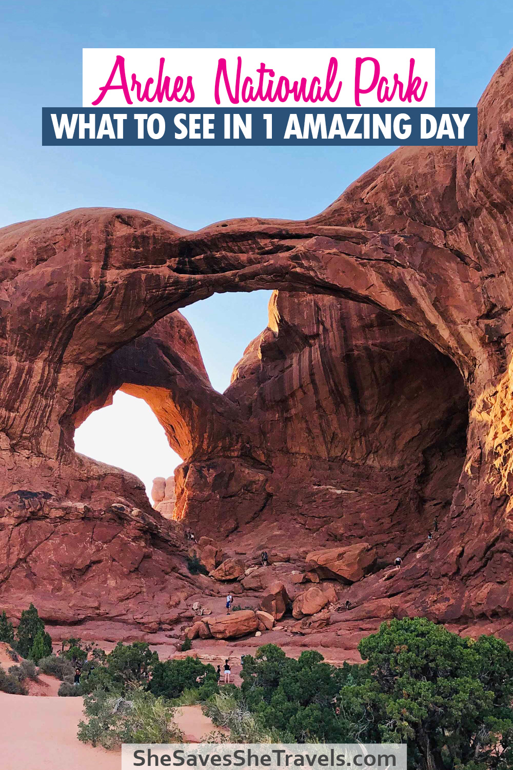 arches national park what to see in 1 day