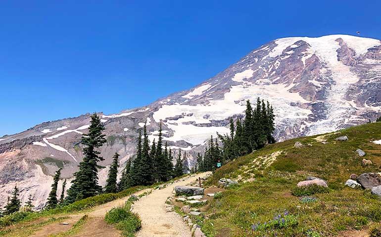 mount rainier hiking trail