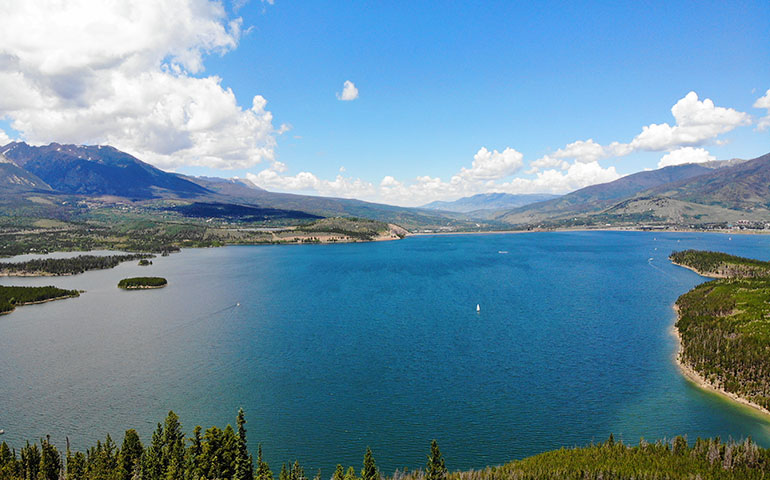 Denver to moab road trip Lake Dillon Colorado