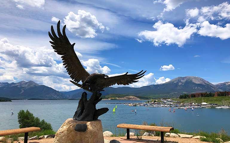 photo of statue at dillon marina