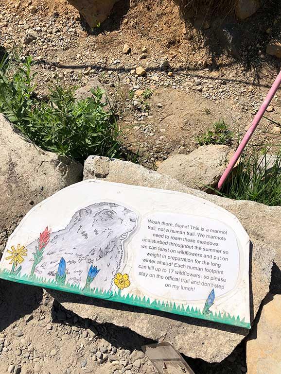 ups sign marmot trail