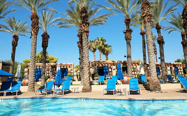 Palm Springs in wintertime