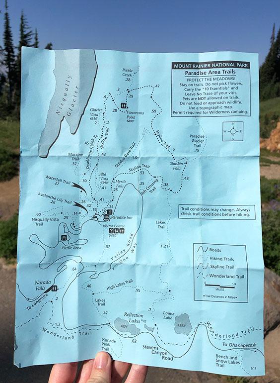 skyline trail map