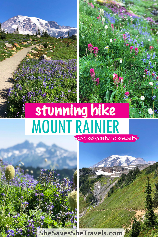 stunning hike mount rainier