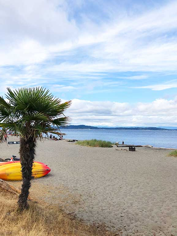 a day in seattle at Alki beach