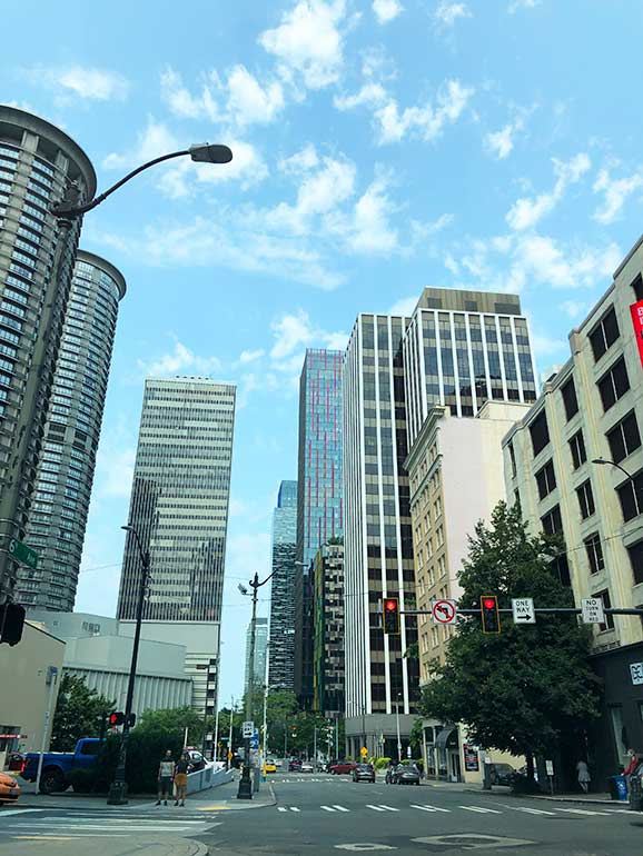 views of downtown seattle
